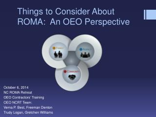 Things to Consider About ROMA:  An OEO Perspective