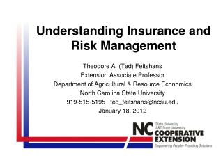 Understanding Insurance and  Risk Management
