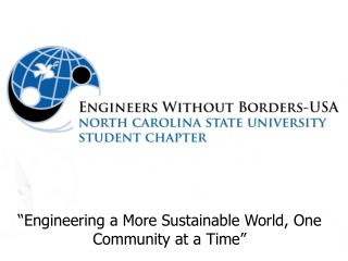 """Engineering a More Sustainable World, One Community at a Time"""