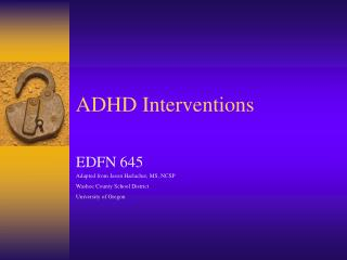 ADHD Interventions