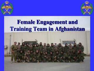 Female Engagement and Training Team in Afghanistan