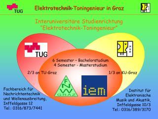 Institut für Elektronische  Musik und Akustik, Inffeldgasse 10/3 Tel.: 0316/389/3170