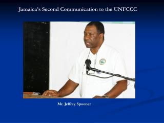 Jamaica's Second Communication to the UNFCCC