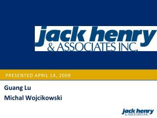 Presented  april  14, 2009