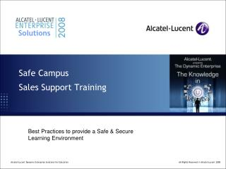 Safe Campus Sales Support Training