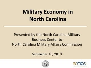 Military Economy in  North Carolina