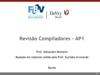 Revisão Compiladores – AP1