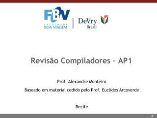 Revis�o Compiladores � AP1