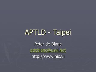 APTLD - Taipei