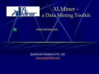 XLMiner  –  a Data Mining Toolkit