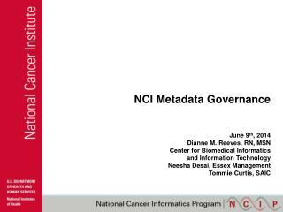 NCI Metadata Governance