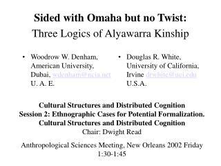 Sided with Omaha but no Twist: Three Logics of Alyawarra Kinship