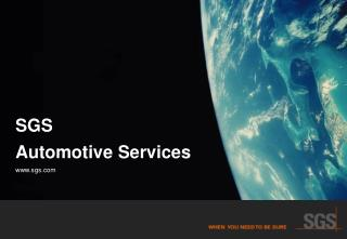SGS  Automotive Services sgs