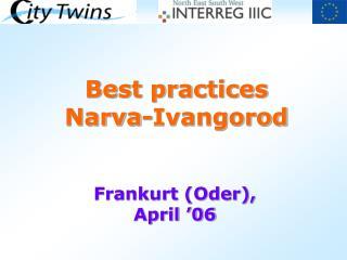 Best practices Narva-Ivangorod