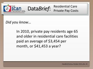 Residential Care Private Pay Costs