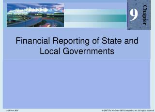 Financial Reporting of State and Local Governments