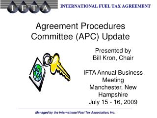 Agreement Procedures Committee (APC) Update
