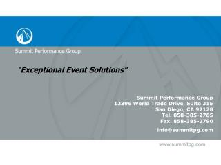 �Exceptional Event Solutions�