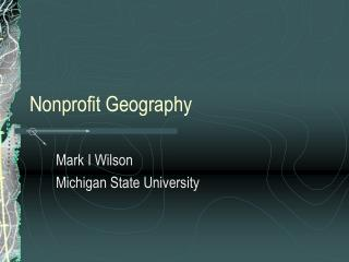 Nonprofit Geography