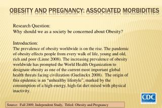 Obesity AND Pregnancy: associated morbidities