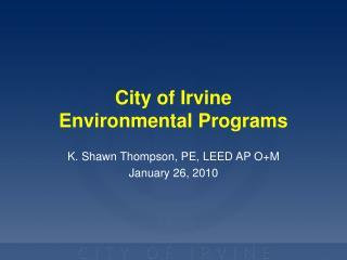 City of Irvine Environmental Programs