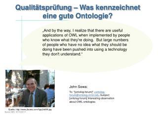 Qualitätsprüfung – Was kennzeichnet eine gute Ontologie?