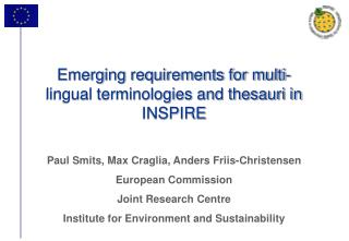 Emerging requirements for multi-lingual terminologies and thesauri in INSPIRE