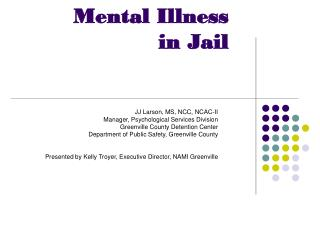 Mental Illness  in Jail