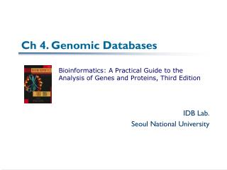 Ch 4. Genomic Databases