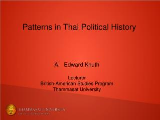 Patterns in Thai Political History