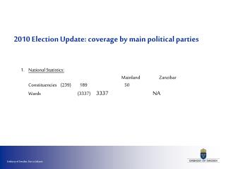 2010 Election  Update: coverage by main political parties
