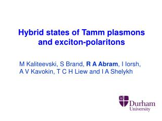Hybrid states of Tamm plasmons  and exciton-polaritons
