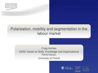 Polarisation, mobility and segmentation in the labour market