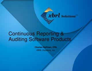 Continuous Reporting & Auditing Software Products