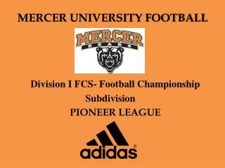 MERCER UNIVERSITY FOOTBALL