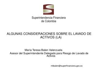 ALGUNAS CONSIDERACIONES SOBRE EL LAVADO DE ACTIVOS (LA)