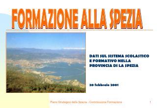 DATI SUL SISTEMA SCOLASTICO E FORMATIVO NELLA PROVINCIA DI LA SPEZIA 20 febbraio 2001