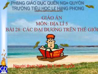 PHßNG GIÁO DỤC QUËN NG¤ QUYÒN  TRƯỜNG TIỂU HỌC L£ HåNG PHONG