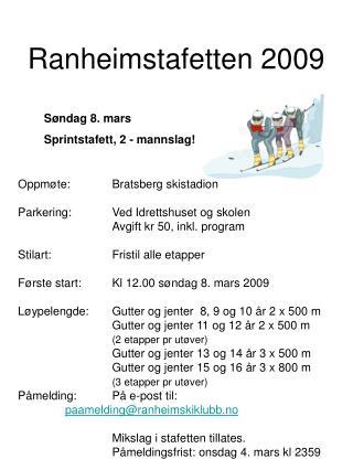 Ranheimstafetten 2009