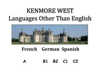 KENMORE WEST Languages Other Than English