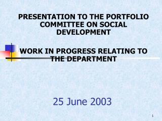 25 June 2003