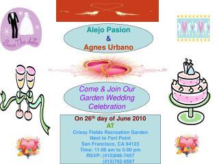 Come & Join Our Garden Wedding Celebration