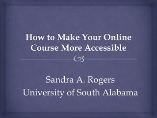 How to Make Your Online Course More Accessible