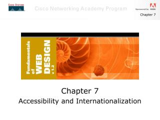 Chapter 7 Accessibility and Internationalization
