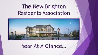 The New Brighton  Residents Association Year At A Glance…