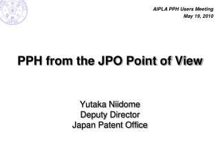 PPH from the JPO Point of View