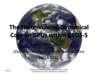The Finite-Volume Dynamical Core on GPUs within GEOS-5