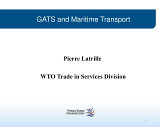GATS and Maritime Transport