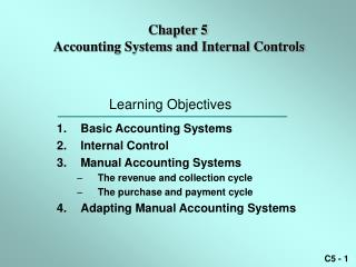 Chapter 5  Accounting Systems and Internal Controls