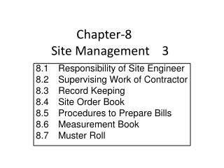 Chapter-8 	 Site Management    3